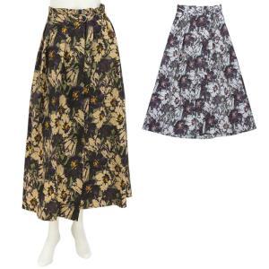 ラリアムー Lallia Mu フワラープリントスカート 2012888 レディース|santnore