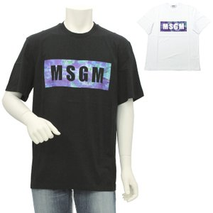 エムエスジーエム MSGM ロゴプリント半袖Tシャツ 2840MM234 207098 メンズ|santnore