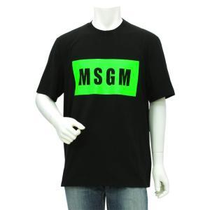 エムエスジーエム MSGM ロゴプリント半袖Tシャツ 2840MM67CF 207098 メンズ|santnore
