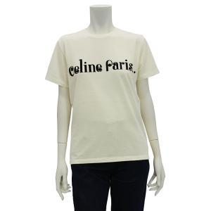 セリーヌ CELINE CELINE PARIS フロッククルーネックTシャツ 半袖Tシャツ 2X406090K レディース|santnore