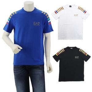 クーポン使えます 在庫一掃バーゲン アルマーニ EA7 EMPORIO ARMANI デザインプリントTシャツ 3ZPTA8 PJM5Z|santnore