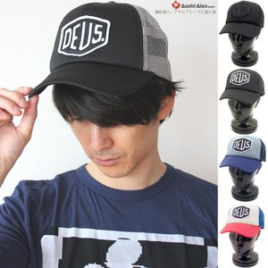 期間限定セール デウスエクスマキナ DEUS EX MACHINA ロゴデザインスナップバックメッシュ キャップ baylands trucker  DMS07875 帽子|santnore
