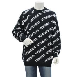 ヴェトモン VETEMENTS ALLOVER LOGO JUMPER ニット セーター UAH21KN047 メンズ|santnore