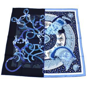 クーポン使えます エルメス HERMES カレ スカーフ 王の羽飾り 002867S 01|santnore