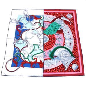 クーポン使えます エルメス HERMES カレ スカーフ 王の羽飾り 002867S 09|santnore