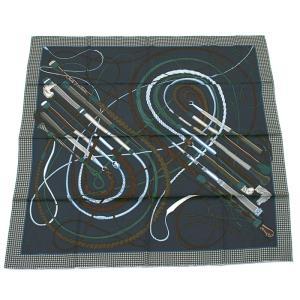 クーポン使えます エルメス HERMES カレ スカーフ 鞭とグリップ 003116S 17 santnore