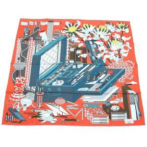 クーポン使えます エルメス HERMES カレ スカーフ ある画家の宝物 003119S 17|santnore