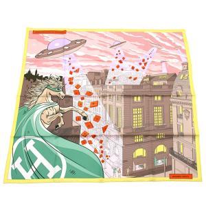 エルメス HERMES カレ スカーフ フォーブルでのスペースショッピング 003136S 10|santnore
