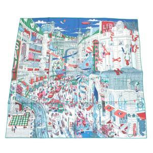 エルメス HERMES カレ スカーフ フォーブルのグランプリ 003166S 04|santnore