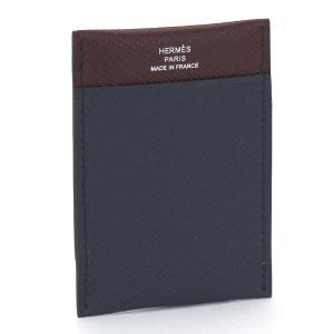 クーポン使えます エルメス HERMES MC2 ガマ ジャングル カードケース 073747CA ブルーインディゴ ボルドーA|santnore