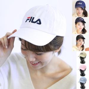 フィラ FILA FLS LINEAR LOGO LOW CAP ロゴ刺繍デザイン コットン キャップ 185713520 santnore