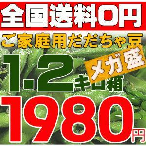 枝豆 山形産1.5キロ箱だだちゃ豆ご家庭用 メガ盛激安超目玉 お届け時期を選べます