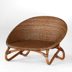 籐椅子 ラタンチェア ローチェア ティア アンティークブラウン色フレーム アジアンテイスト|sanukiya