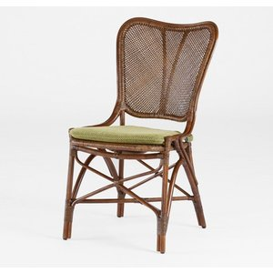 籐肘無食堂椅子 ラタンダイニングチェア ニュークロワゼ ウォールナット色 布張り アジアンテイスト|sanukiya