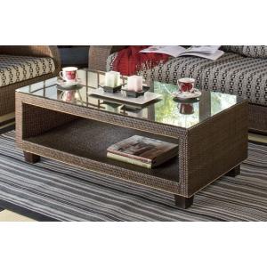アジアン 籐(ラタン)ガラステーブル|sanukiya