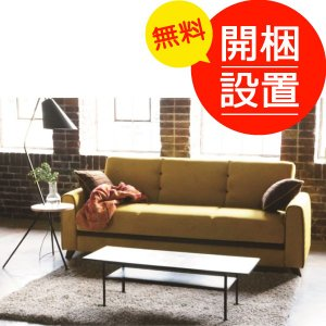 搬入設置 ソファーベッド/ソファベッド AGファビオ 座面下収納付き サイドクッション2個付