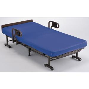 連休中も発送が出来ます アテックス 収納式リクライニングベッド(ダブルギア) AX-BG557 洗えるブルー色マットカバー付き シングル|sanukiya
