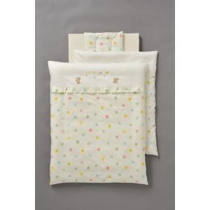コンパクト(ミニ)ベッド用洗える組布団6点セット ベアーズドロップ|sanukiya
