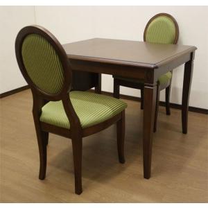 ダイニングセット 80巾テーブル、椅子付き3点セット 伝統的ヨーロピアンエレガントデザイン ベネチアDT85 sanukiya