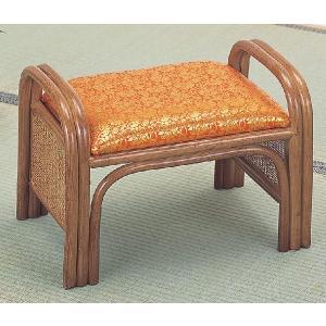 籐椅子 ラタンチェア ご仏前朱金襴座椅子 C-41  スツール|sanukiya