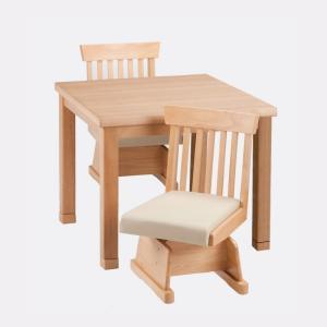 ハイタイプこたつ ダイニングコタツセット ひだまり80NA(ナチュラル色)+椅子HD-15(NA)2脚 テーブル80センチ巾正方形 3点セット sanukiya