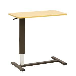 昇降ベッドサイドテーブル テーブル巾80センチ オーバーテーブル 2色対応|sanukiya