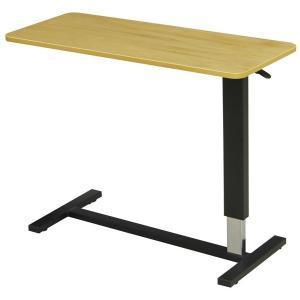 昇降ベッドテーブル(ワイドタイプ) テーブル巾98センチ LWM-98 LB ライトブラウン メラミン張り|sanukiya