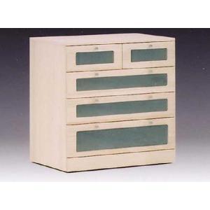 押入れ収納家具 窓付桐クローゼットたんす 75巾4段 完成品 国産品 和風|sanukiya
