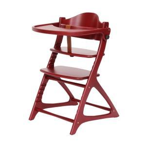 ベビーチェア 大和屋 セーフティチェアベルト付 materna Table&Guard  マテルナ テーブル&ガード 木製 レッド色|sanukiya