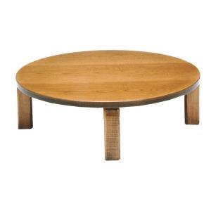 テーブル/座卓/座敷机 民芸(みんげい) 新和風座卓  120巾円卓 折れ脚機能付き 丸形 日本製