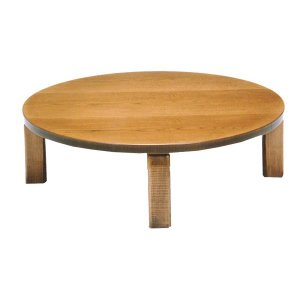 テーブル/座卓/座敷机 民芸(みんげい) 新和風座卓 90巾円卓 折れ脚機能付き 丸形 日本製