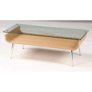 曲げ木ガラステーブル ナチュラル色|sanukiya