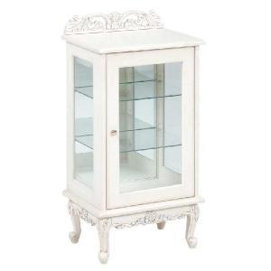 ガラスキャビネット50幅 ホワイト色 高さ96センチ sanukiya