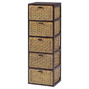木製フレーム籐 ラタンチェスト ランドリー 40巾5段 sanukiya