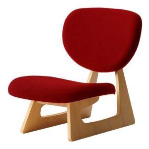座いす 布張り座椅子 低座椅子 完成品 国産品(日本製) 天童木工 レッド色 sanukiya