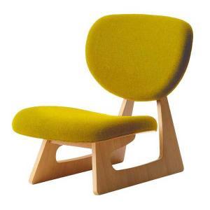 座いす 布張り座椅子 低座椅子 完成品 国産品(日本製) 天童木工 マスタード色 sanukiya