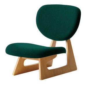 座いす 布張り座椅子 低座椅子 完成品 国産品(日本製) 天童木工 ダークグリーン sanukiya