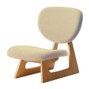 座いす 布張り座椅子 低座椅子 完成品 国産品(日本製)  天童木工 ベージュ色 sanukiya