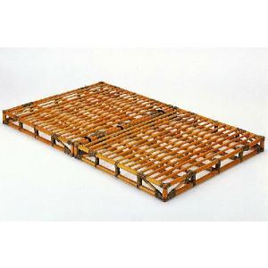 籐(ラタン)ベッド 籐すのこベッド セミダブルサイズベット 通気性抜群で、高温多湿の梅雨時期や夏でも...