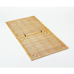 籐(ラタン)ベッド 籐すのこベッドロータイプ シングルサイズ 通気性が高く、寝汗を発散する籐すのこベ...