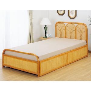 籐(ラタン)すのこシングルベッド、ウレタンマット付 セミダブルサイズ アジアン家具|sanukiya