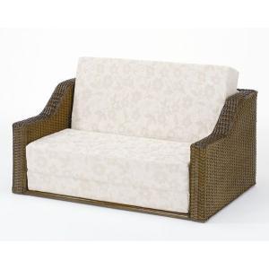 アジアン家具 籐(ラタン)ベッド、三つ折れソファーベッド 折りたたみベッド Y-914B|sanukiya