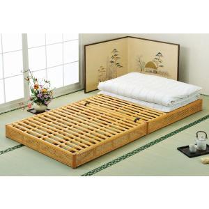アジアン家具 籐(ラタン)すのこシングルベッド シングルサイズ 折りたたみベッド|sanukiya