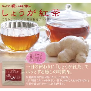しょうが紅茶(30包入り)・セイロン紅茶・高知県産乾燥生姜100%・天然オリゴ糖・紅茶スティック|sanwa-y