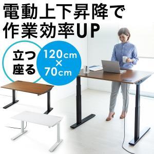 スタンディングデスク スタンディングテーブル 昇降式 幅120cm(即納)|sanwadirect