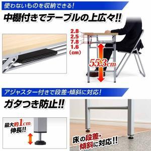 会議用テーブル 折りたたみ 長机 会議デスク 会議室 幅150cm 奥行き45cm(即納)|sanwadirect|05