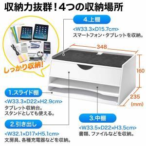 iPad タブレット 収納 机上台 充電ステーション 机上ラック(即納)|sanwadirect|03