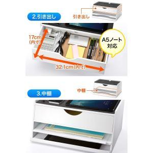 iPad タブレット 収納 机上台 充電ステーション 机上ラック(即納)|sanwadirect|05