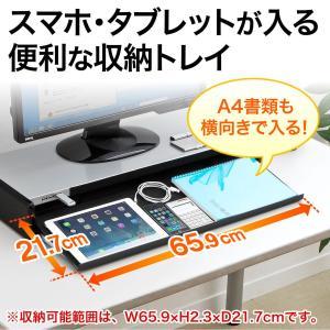 モニター台 液晶 机上ラック USBハブ iPhone iPad スマホ スタンド(即納)|sanwadirect|02