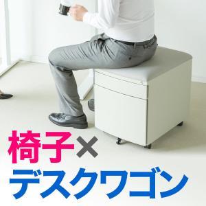 デスクワゴン 椅子 サイドワゴン キャスター付き チェア キャビネット オフィス サイド ワゴン スツール ワゴン(即納)|sanwadirect